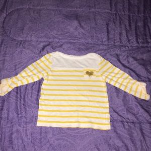 White and Yellow Striped Shirt